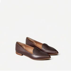 Everlane Modern Point Two Toned Burgandy Loafer!